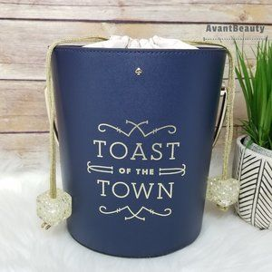 Kate spade champagne bucket bag toast of town
